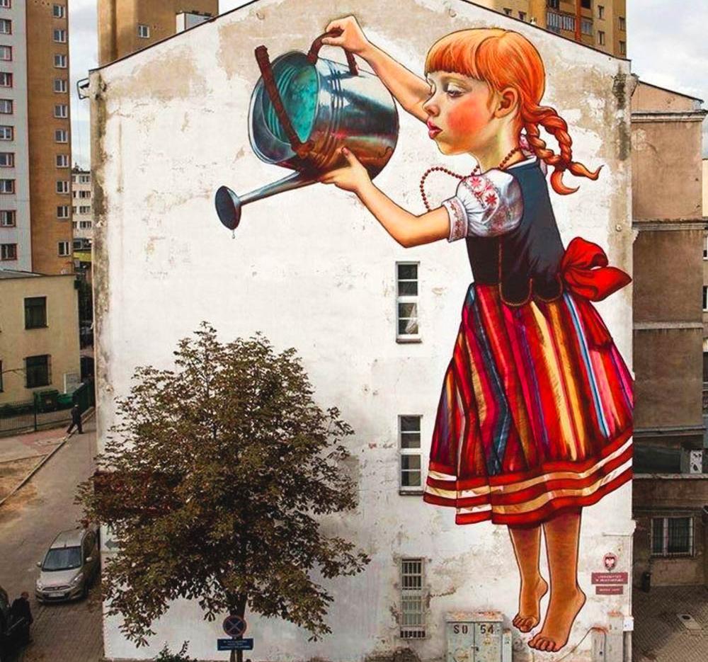 Как разрисовать стену на улице